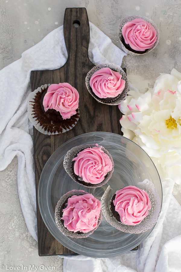 double chocolate beet cupcakes