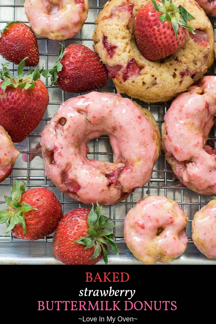 Baked Strawberry Donuts