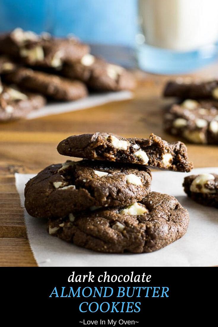 Dark Chocolate Almond Butter Cookies