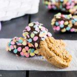 chocolate-dipped almond-vanilla biscotti