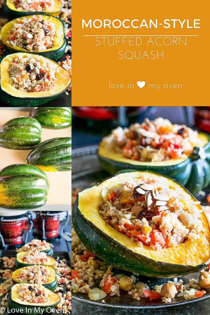 Moroccan Couscous Stuffed Acorn Squash