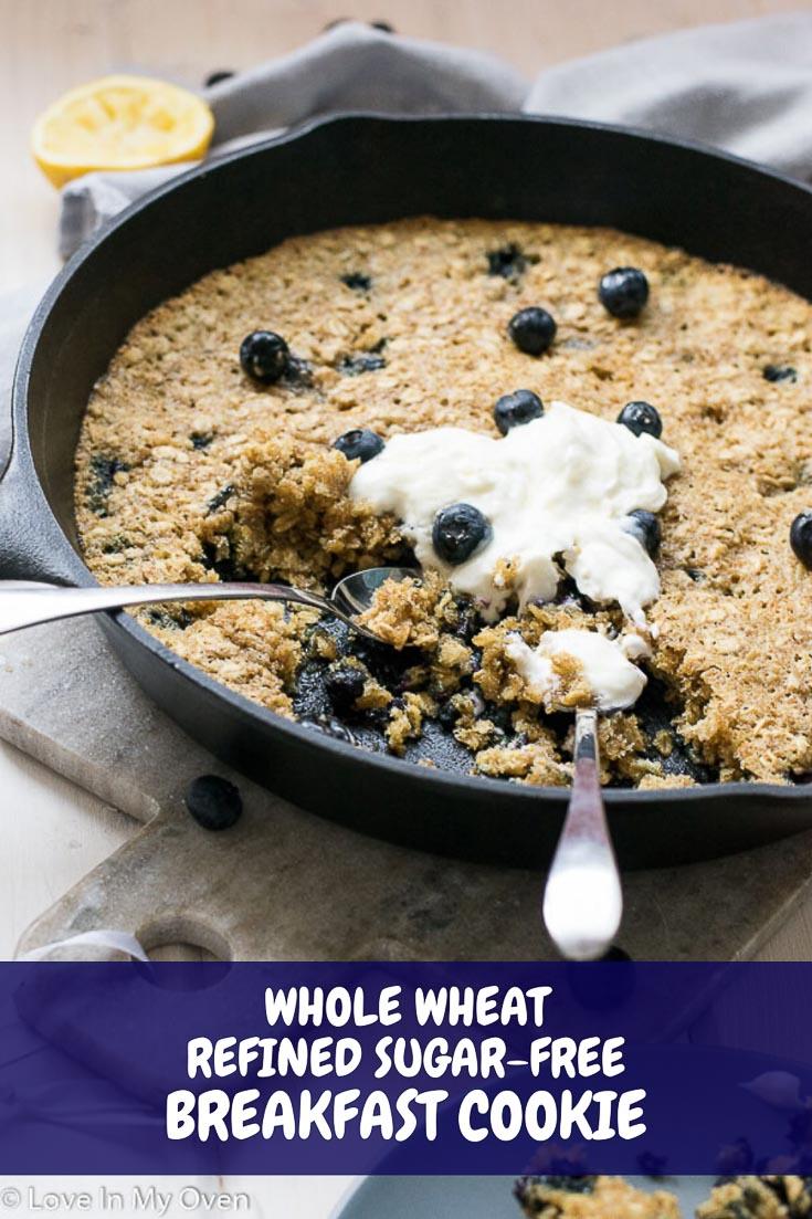 Skillet Blueberry Breakfast Cookie