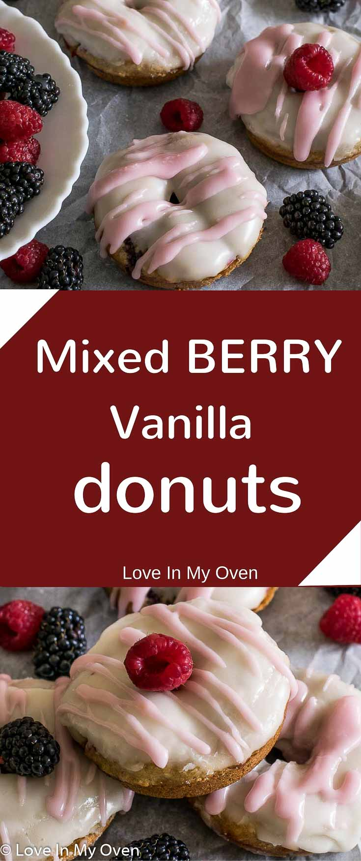 Baked Berry Donuts