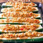 Thai vegetarian Zucchini Boats