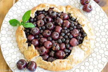 lazy cherry saskatoon pie