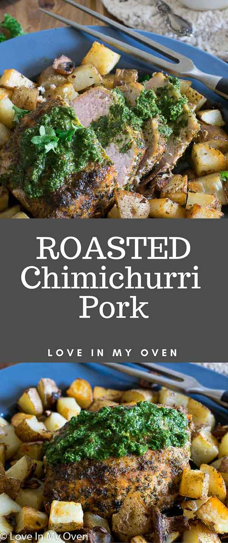 roasted chimichurri pork