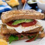 prosciutto egg sandwich