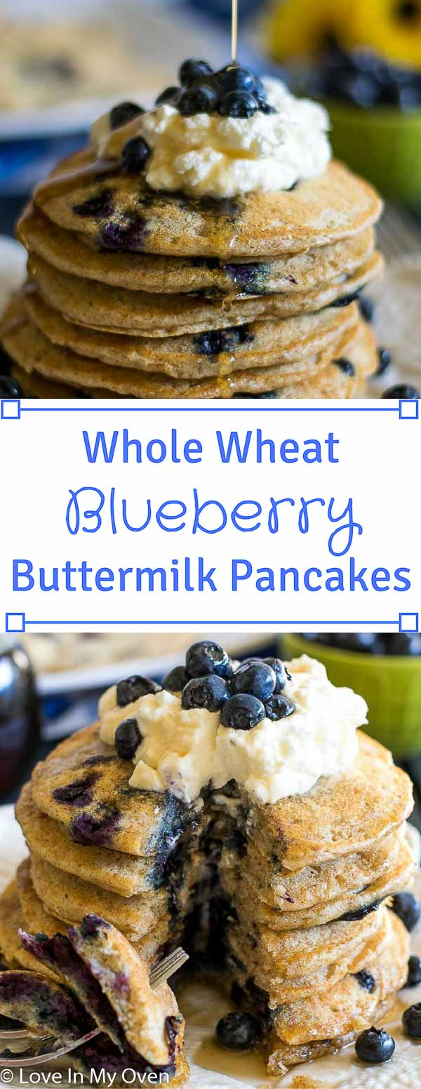 Whole Wheat Blueberry Buttermilk Pancakes