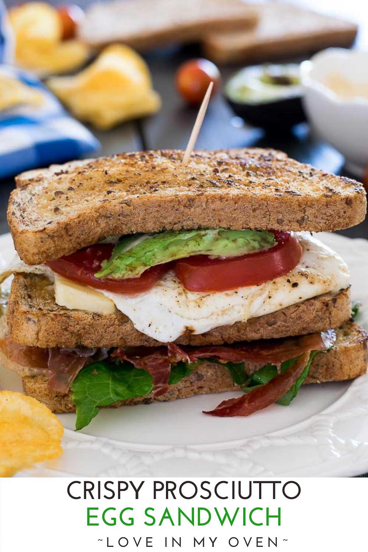 Crispy Prosciutto Egg Sandwich