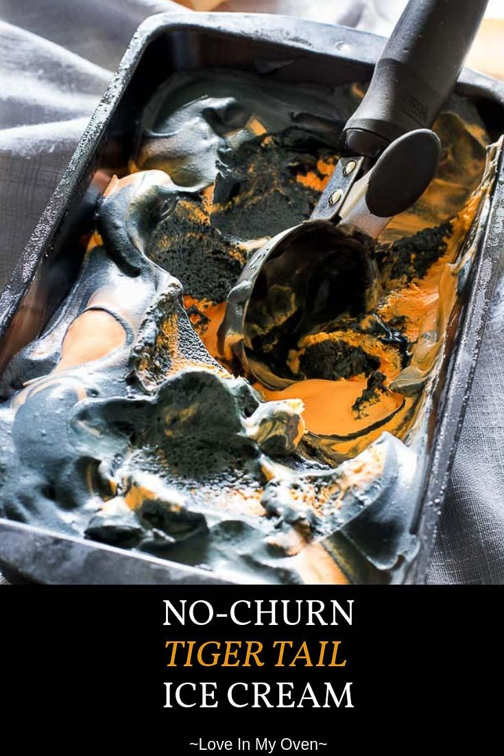 No-Churn Tiger Tail Ice Cream