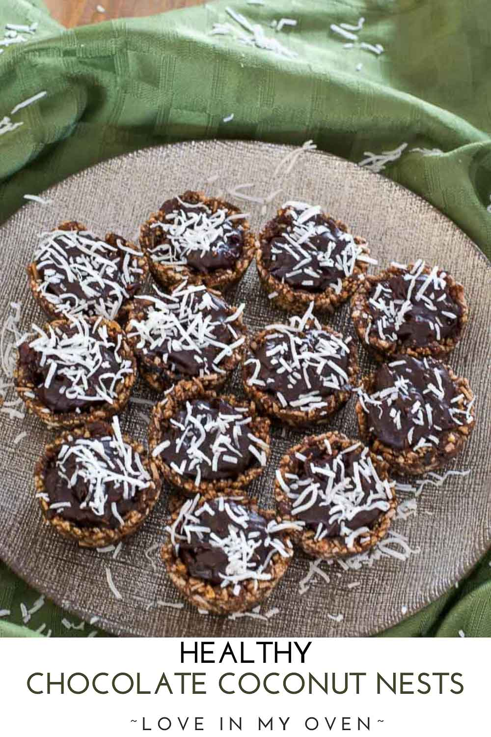 Healthy Chocolate Coconut Nests
