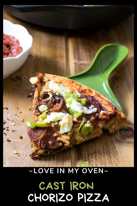 Cast Iron Caramelized Onion and Chorizo Pizza