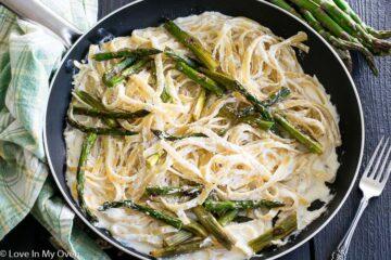 Roasted Asparagus pasta