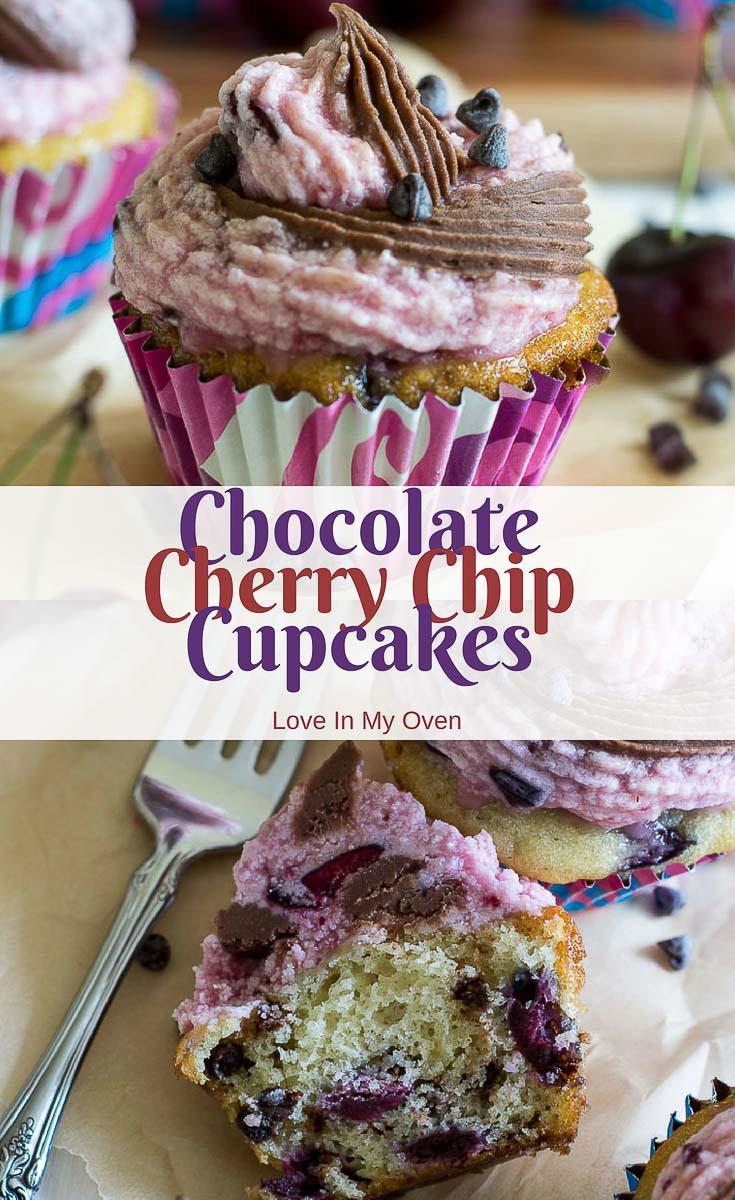Chocolate Cherry Chip Cupcakes