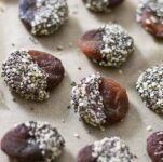 chia chocolate dipped apricots