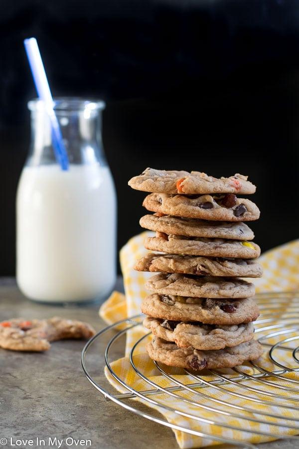 Browned Butter Reece's Pieces Cookies-2