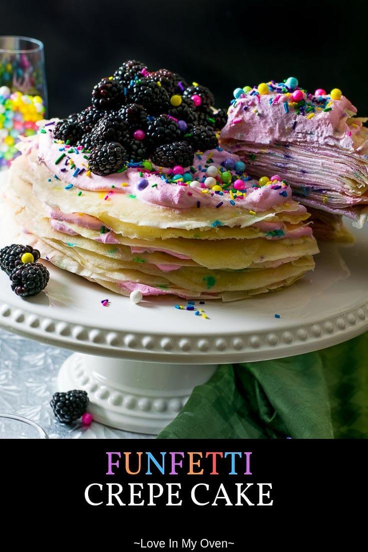 Funfetti Crepe Cake