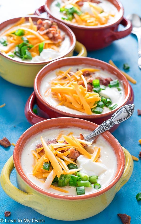 instant pot loaded cauliflower soup