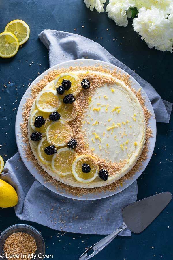 Keto Coconut Lemon Cheesecake