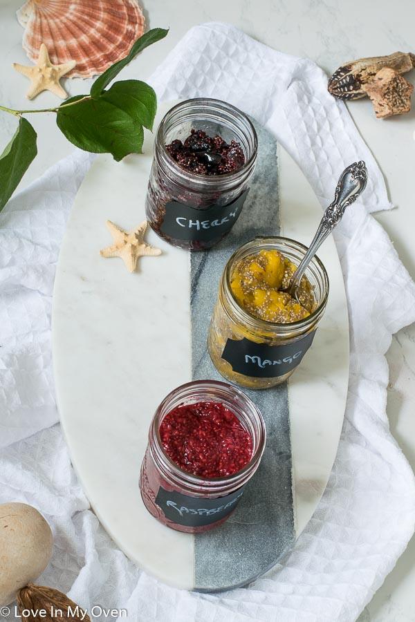 3 ingredient chia jam