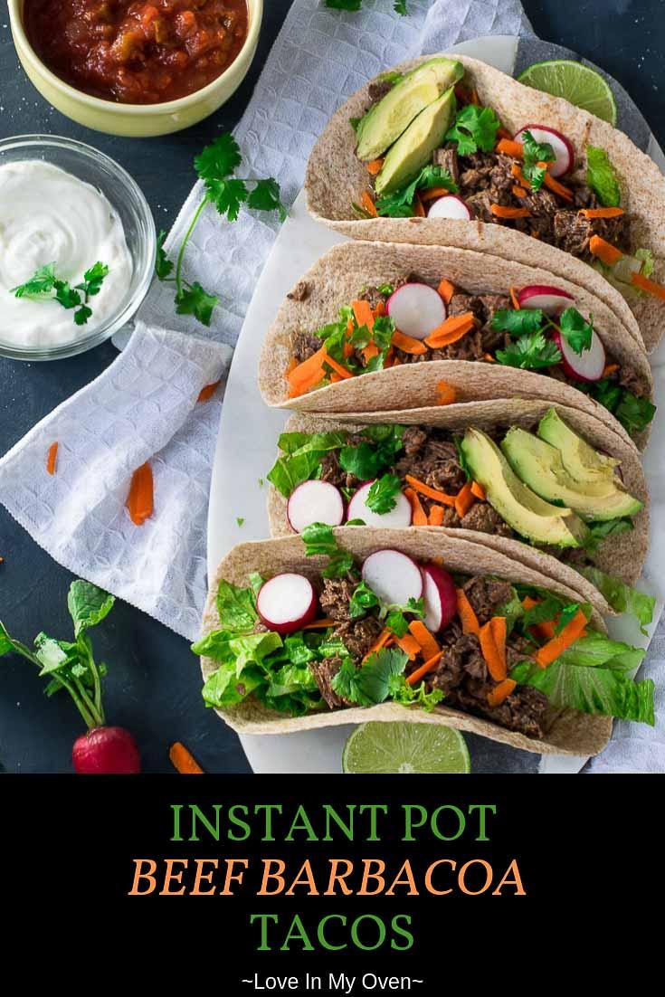 Instant Pot Beef Barbacoa Tacos
