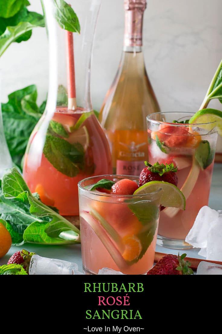 Rhubarb Rosé Sangria