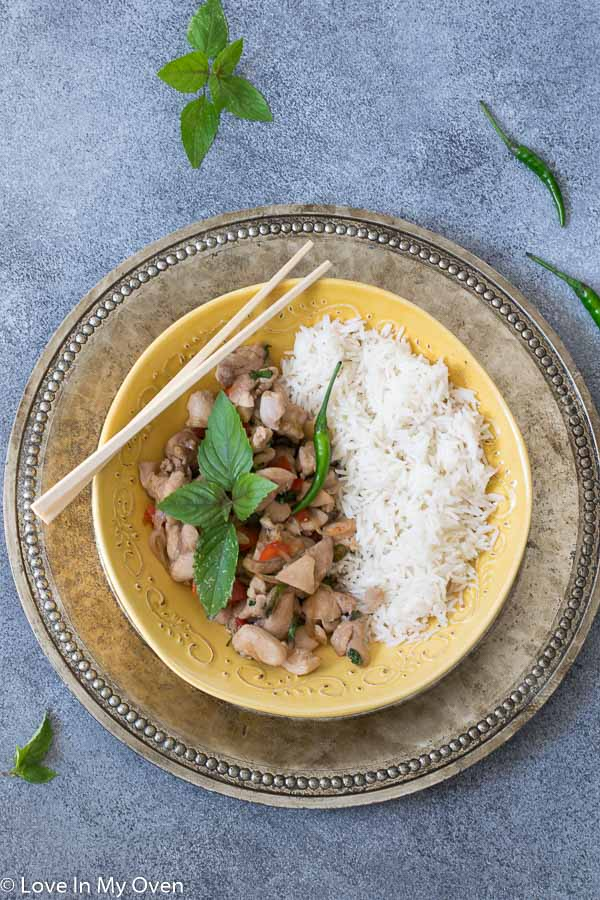 Easy Thai Basil Chicken Love In My Oven