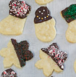 chocolate covered shortbread cookies