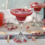 cranberry sorbet champagne float