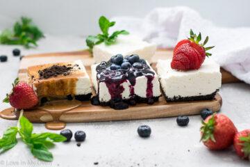 no bake cheesecake bars