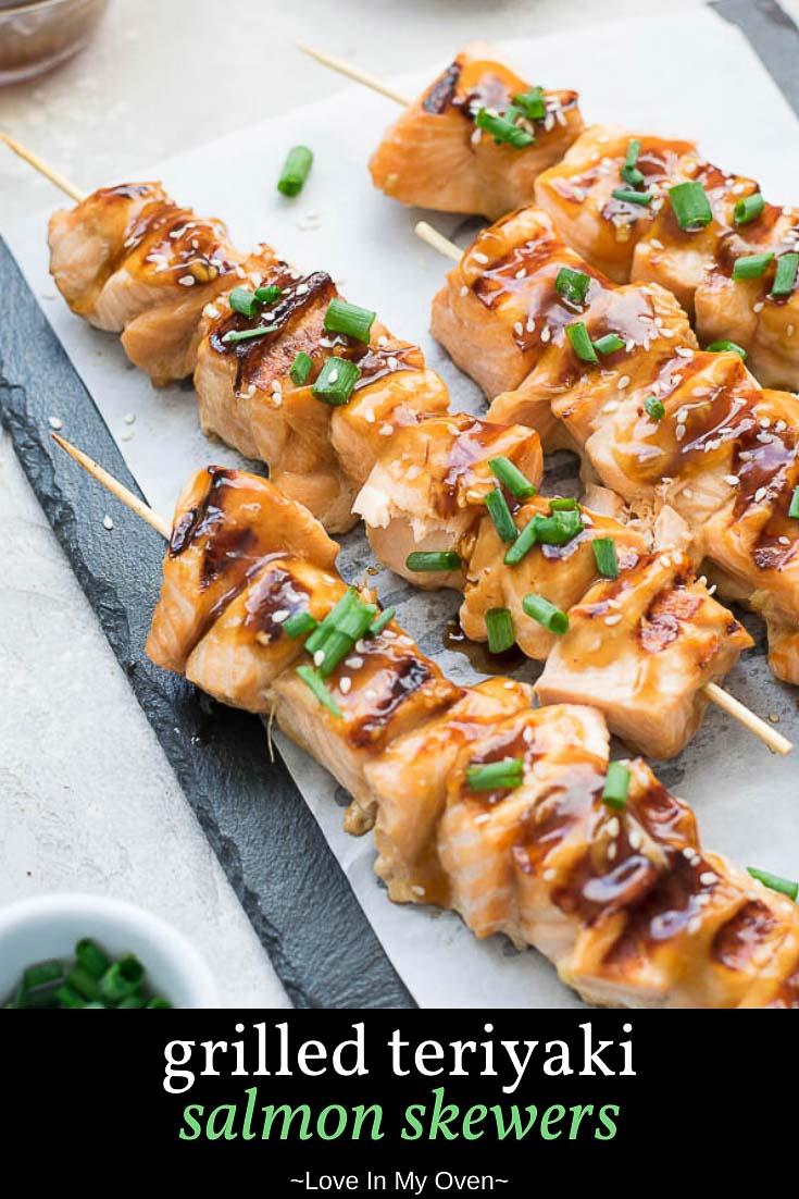 Grilled Teriyaki Salmon Bites