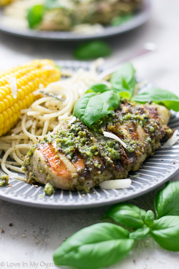 easy pesto chicken