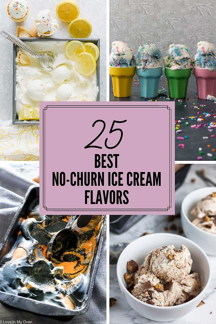 25 No-Churn Ice Cream Flavors