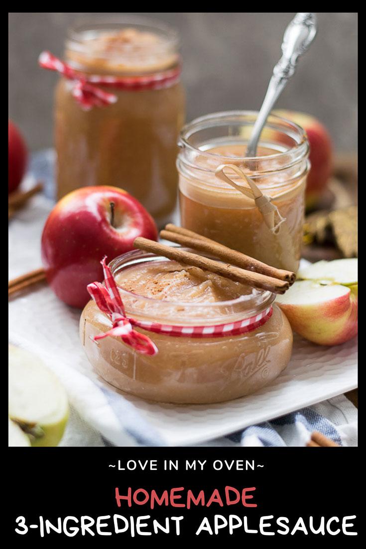 Homemade Unsweetened Applesauce