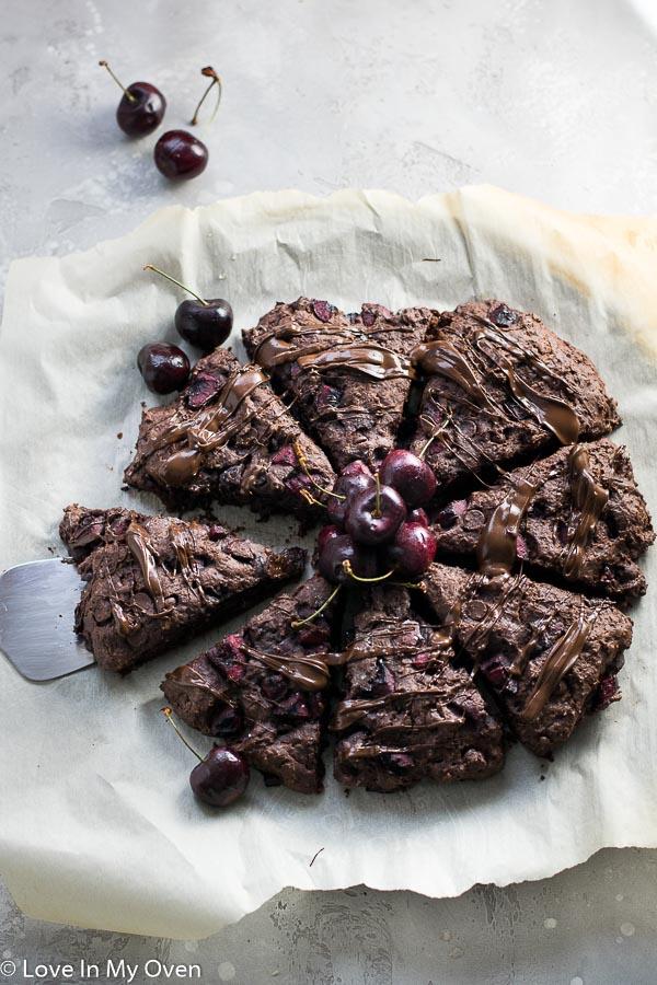 chocolate cherry scones