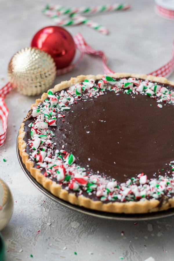 peppermint chocolate tart