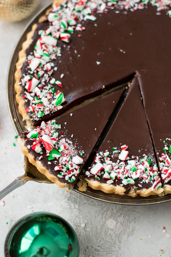peppermint chocolate tart