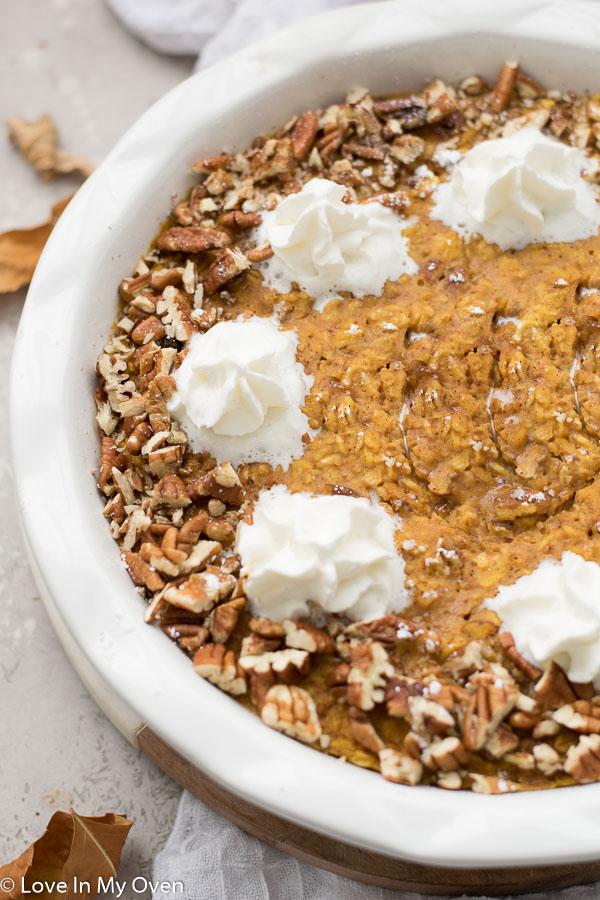 pumpkin pie baked oatmeal