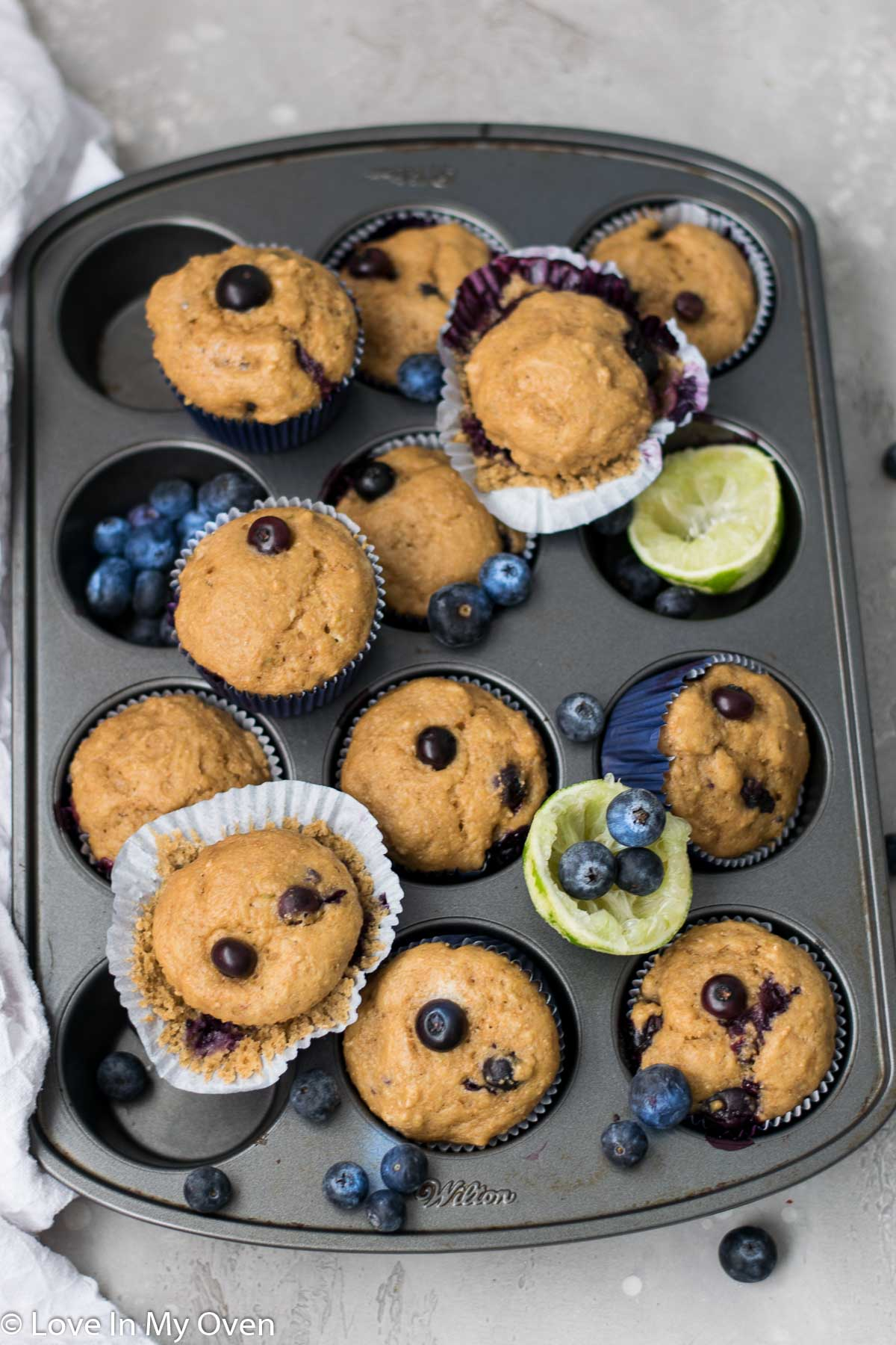 blueberry lime muffins