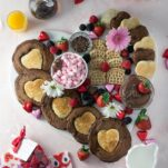heart shaped pancakesIn need of an idea for Valentine's Day breakfast? These double chocolate pancakes can easily be made into heart shaped pancakes for the day of love, or any other reason for celebration! // heart pancakes // double chocolate pancakes