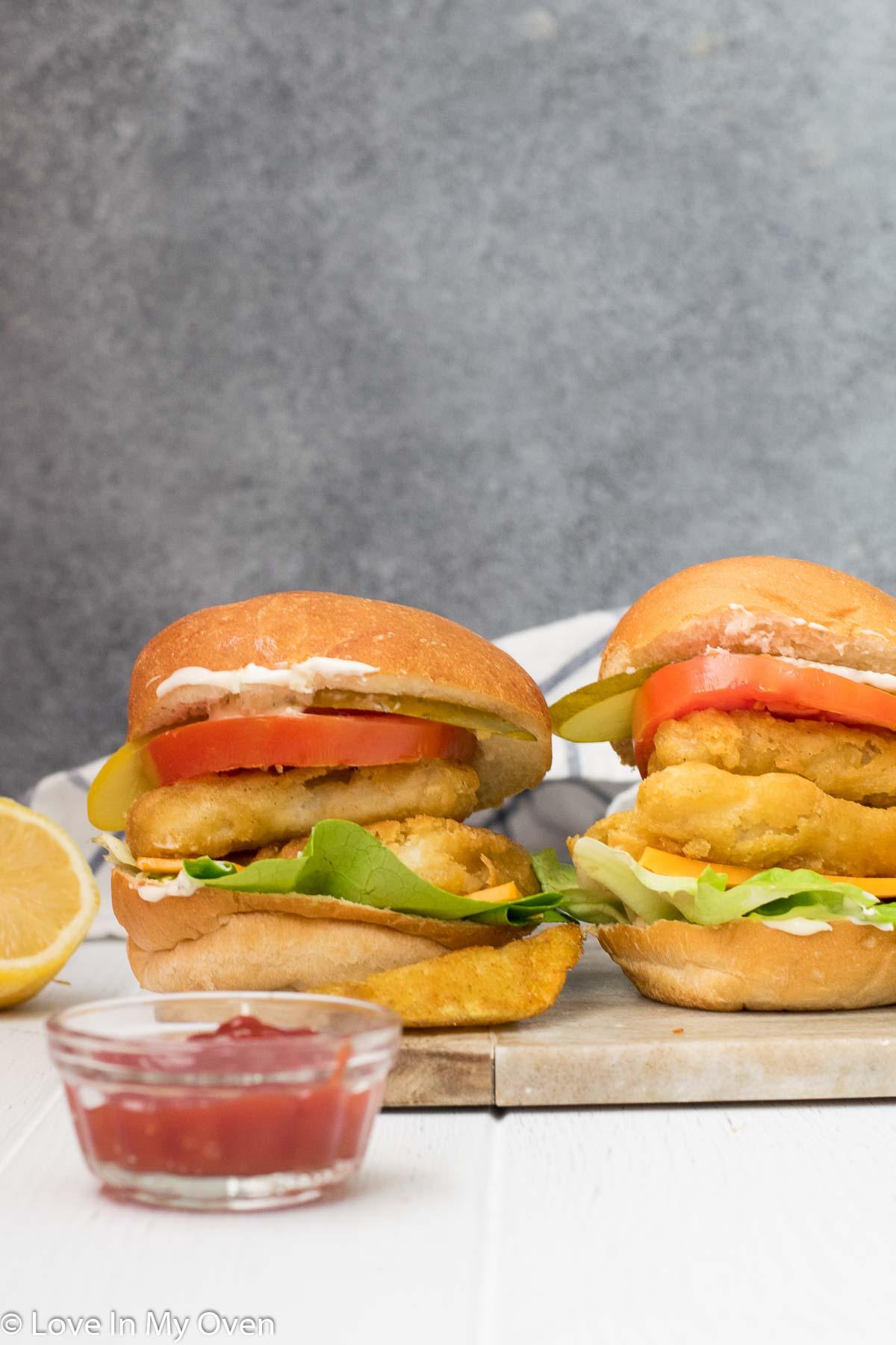 crispy fish burger