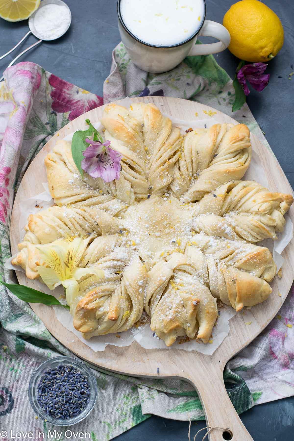 star lemon lavender bread