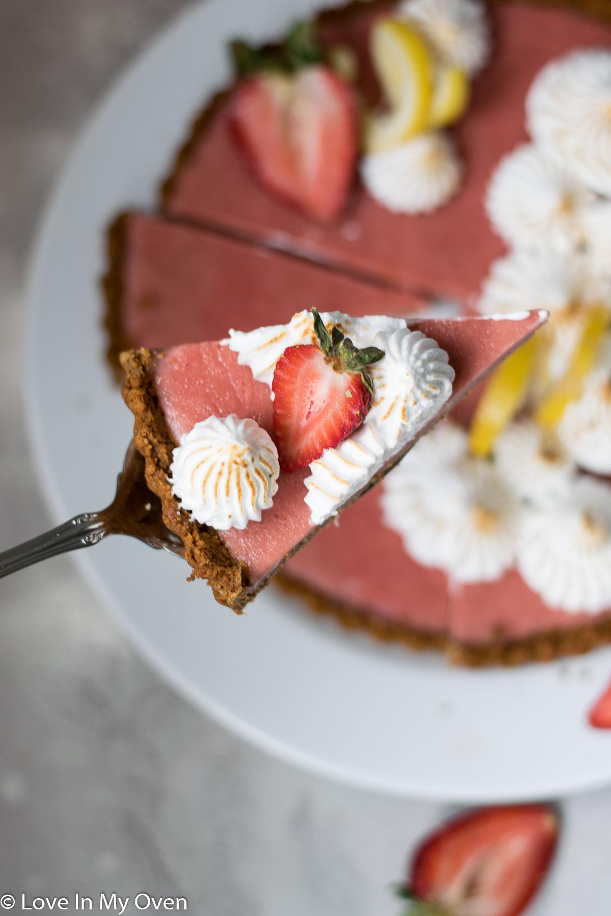 strawberry lemon curd tart