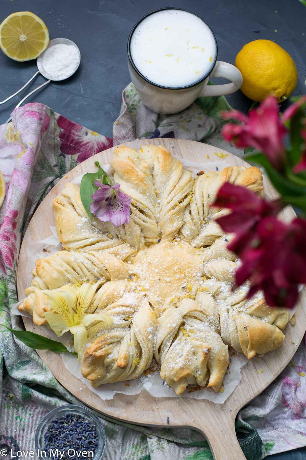 star lavender lemon bread