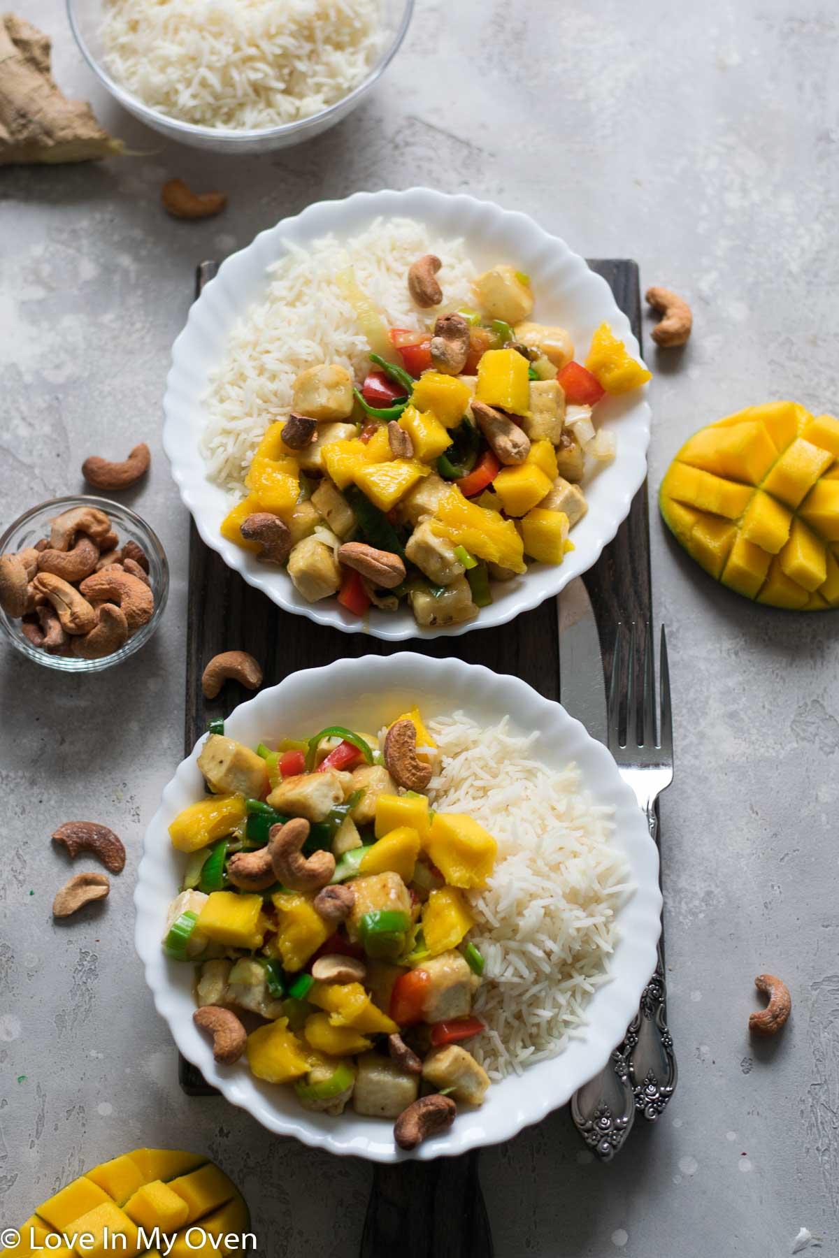 mango tofu stir fry