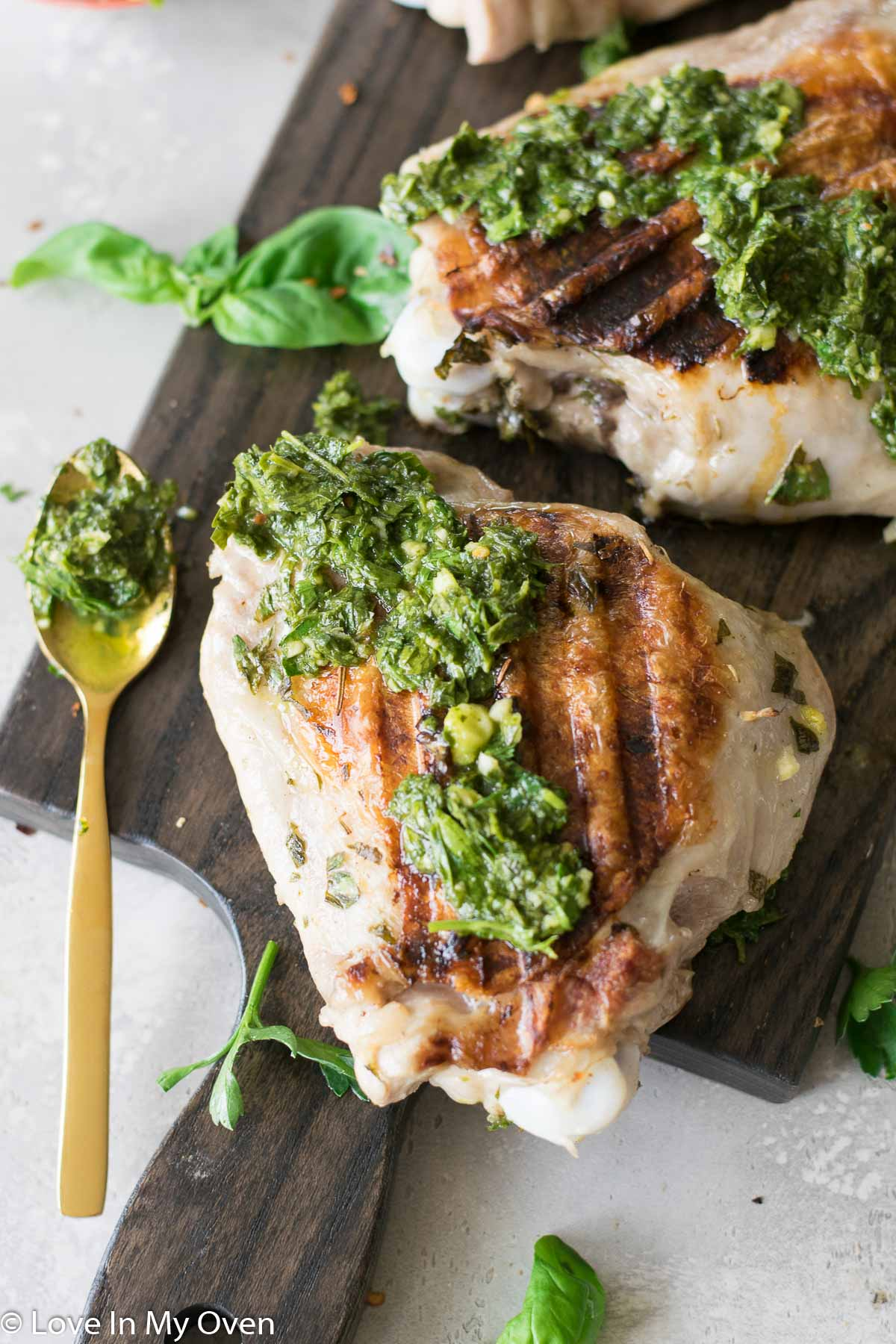 grilled turkey with chimichurri sauce