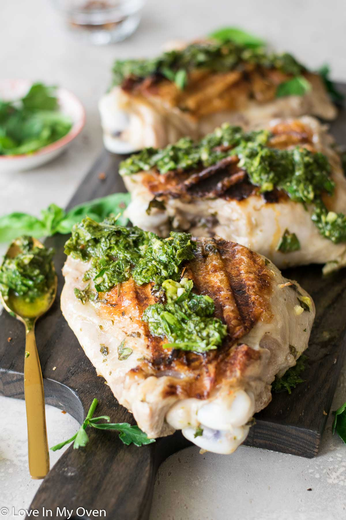 grilled turkey with chimichurri